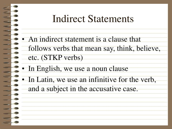 Indirect statements1