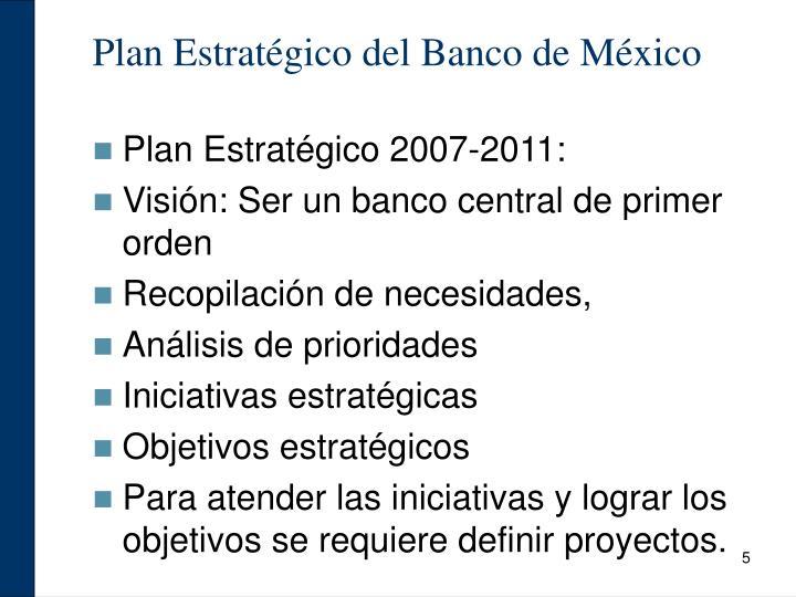 Plan Estratégico del Banco de México