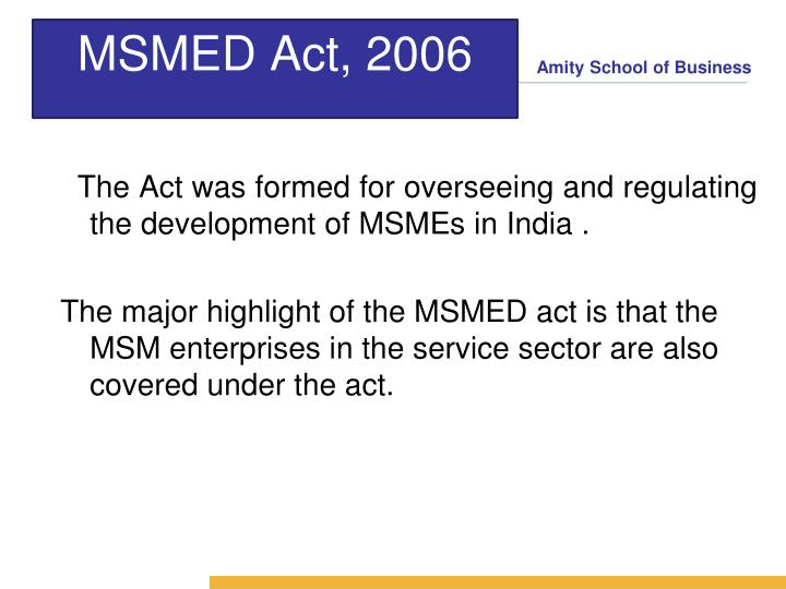 MSMED Act, 2006