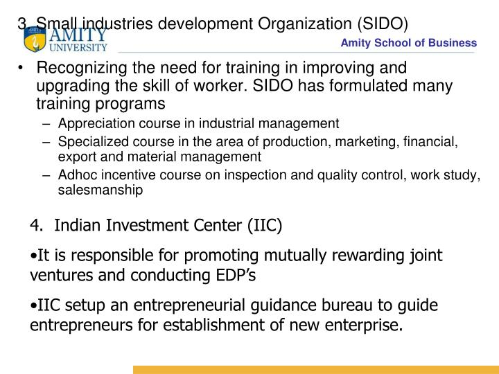 3. Small industries development Organization (SIDO)