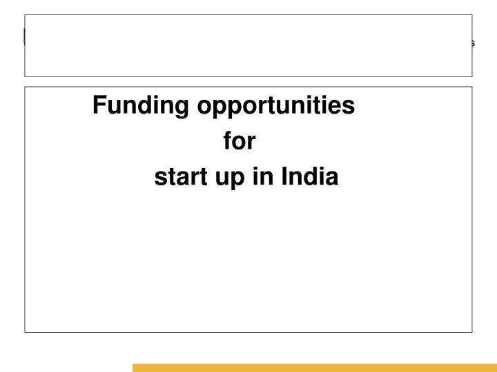 Funding opportunities
