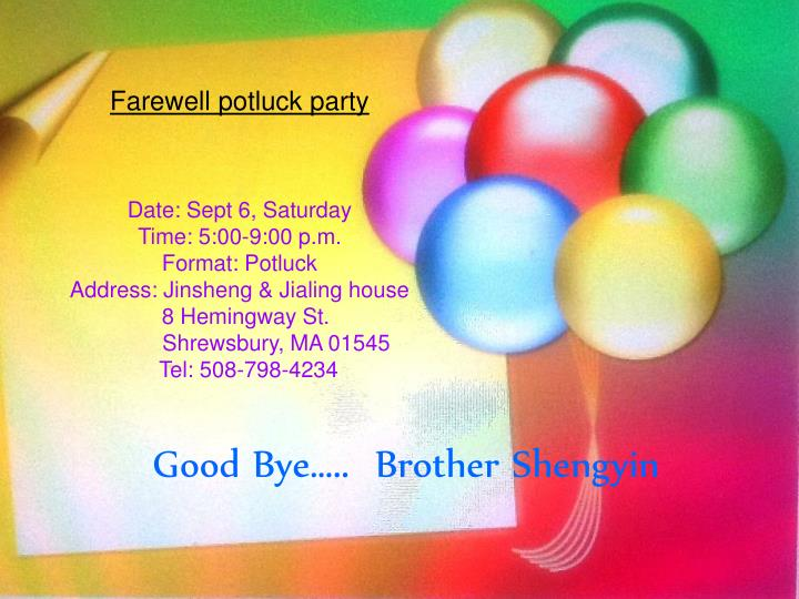 Good bye brother shengyin