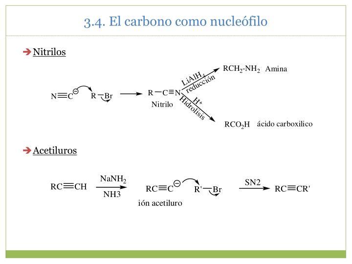 3.4. El carbono como nucleófilo