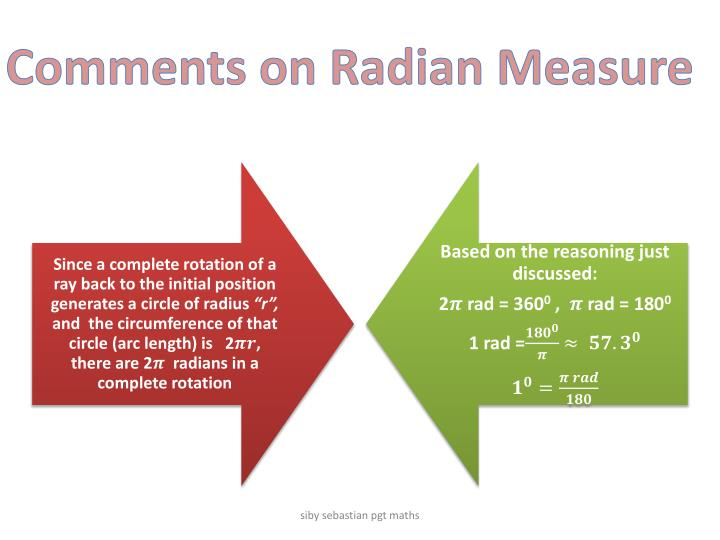 Comments on Radian Measure