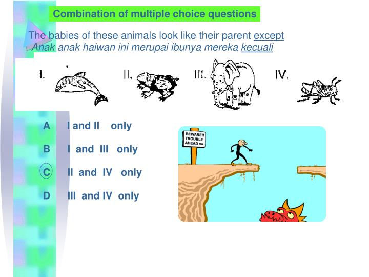 Combination of multiple choice questions
