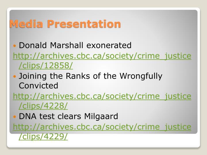 Donald Marshall exonerated