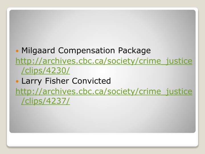 Milgaard Compensation Package