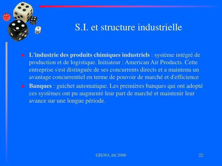 S.I. et structure industrielle