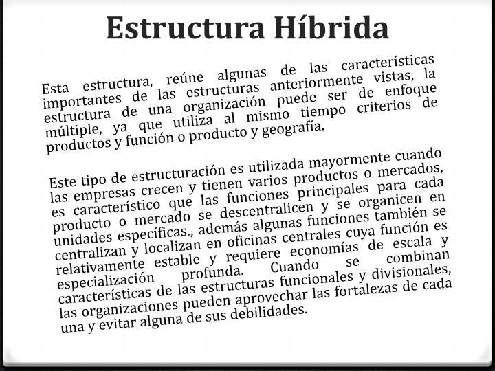 Estructura Híbrida