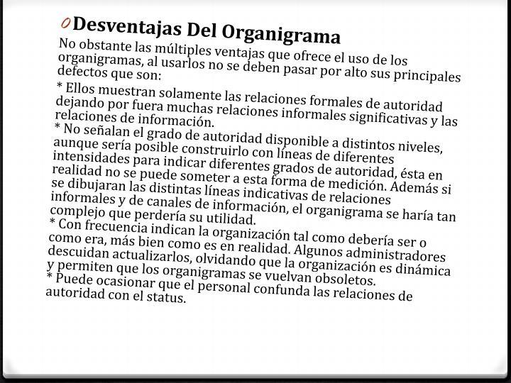 Desventajas Del Organigrama