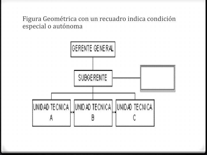 Figura Geométrica con un recuadro indica condición especial o autónoma