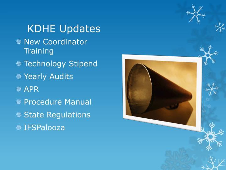 KDHE Updates