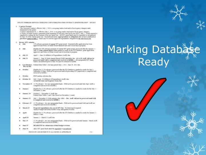 Marking Database