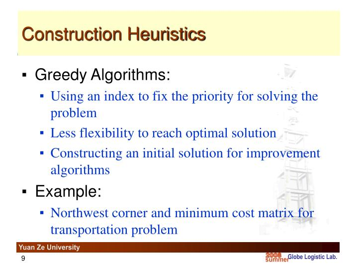 Construction Heuristics