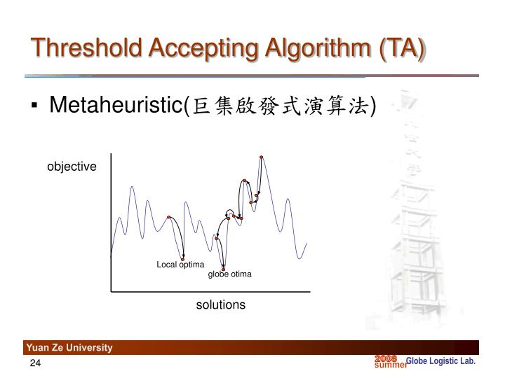 Threshold Accepting Algorithm (TA)