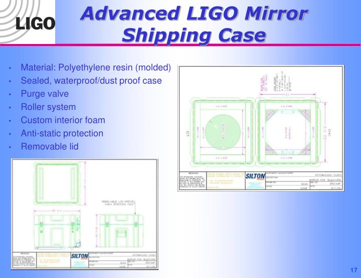 Advanced LIGO Mirror Shipping Case