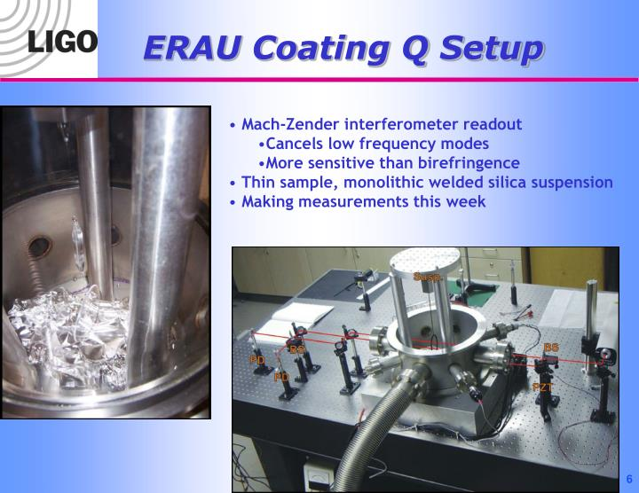 ERAU Coating Q Setup