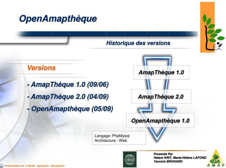 AmapThèque 1.0