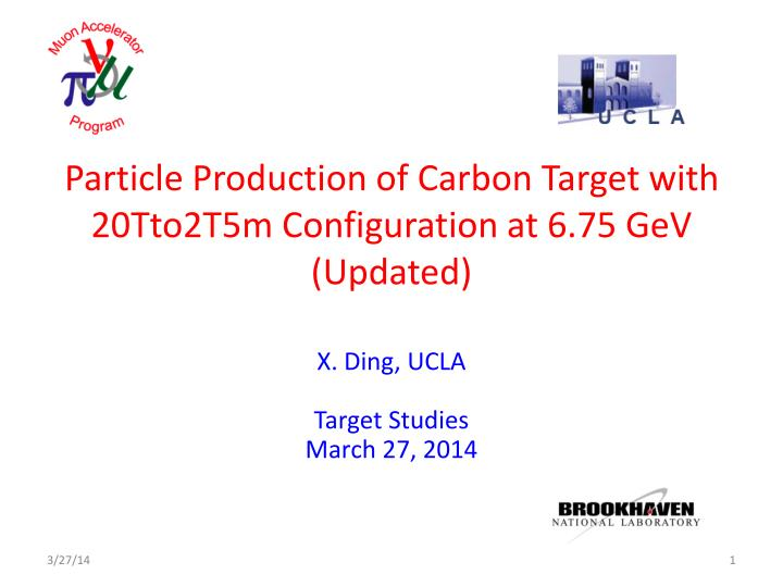 Particle production of carbon target with 20tto2t5m configuration at 6 75 gev updated