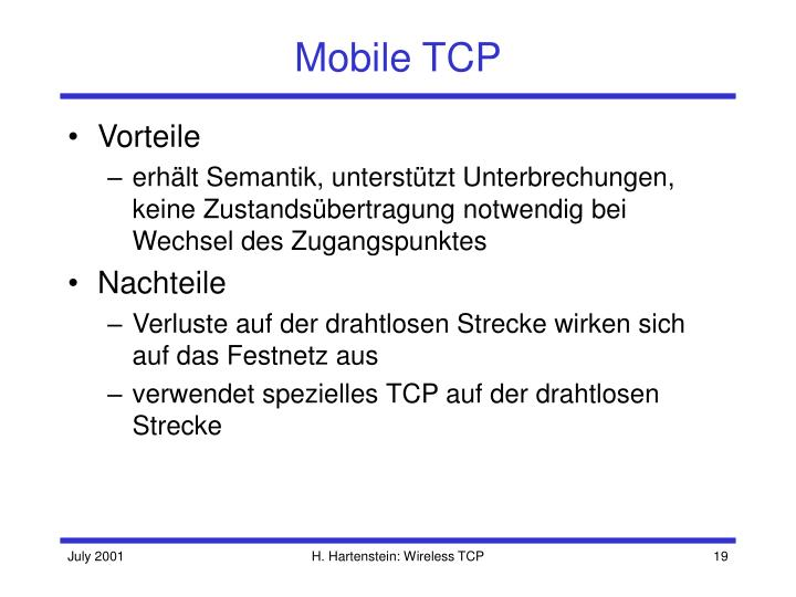 Mobile TCP