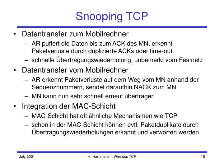 Snooping TCP
