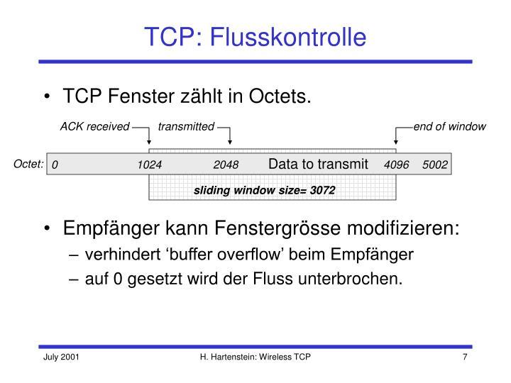 TCP: Flusskontrolle
