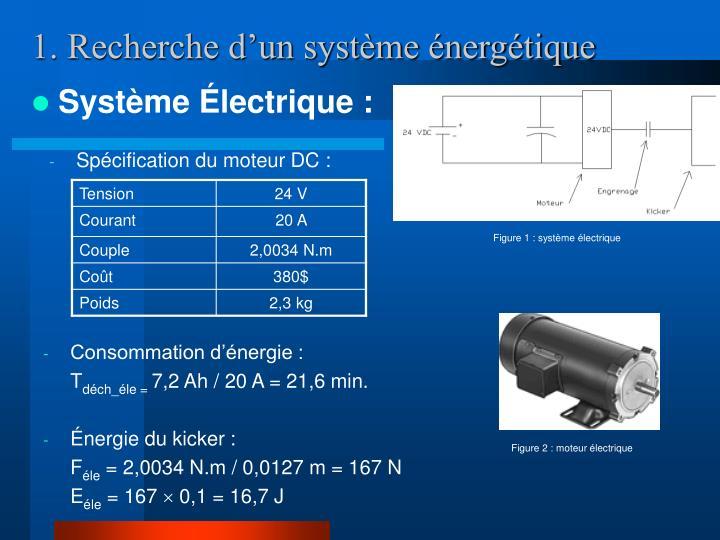 1. Recherche d'un système énergétique