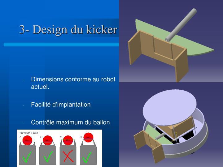 3- Design du kicker