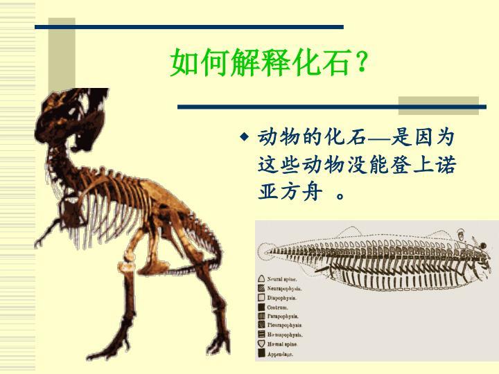 如何解释化石?