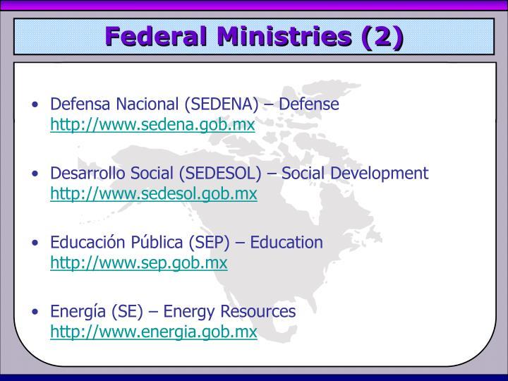 Federal Ministries (2)