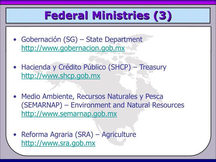 Federal Ministries (3)