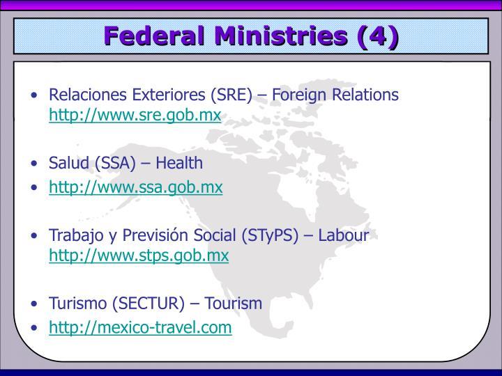 Federal Ministries (4)