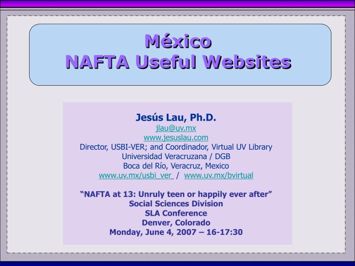M xico nafta useful websites