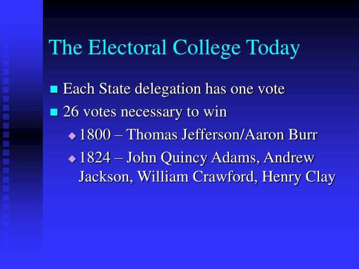 The Electoral College Today