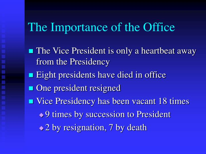 The Importance of the Office
