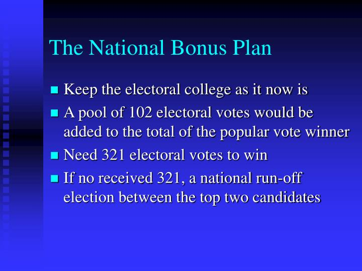 The National Bonus Plan