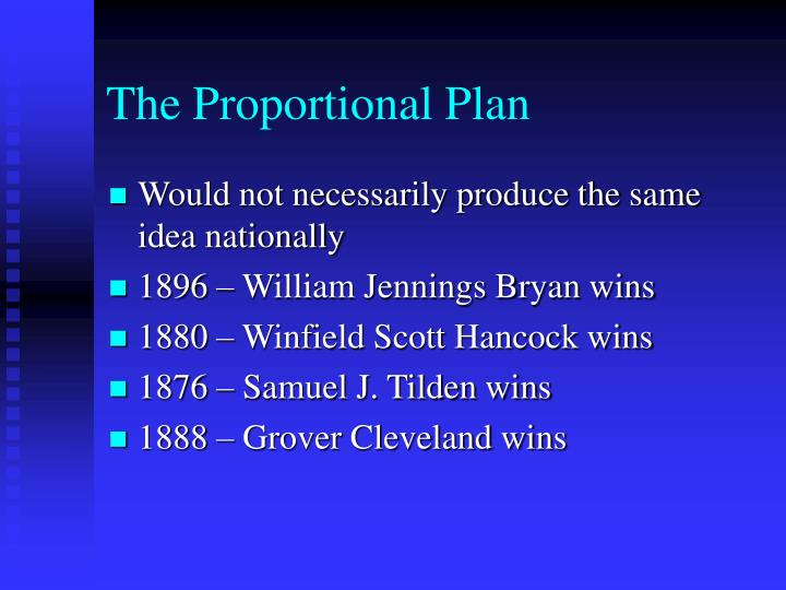 The Proportional Plan