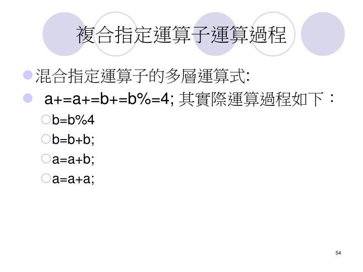 複合指定運算子運算過程