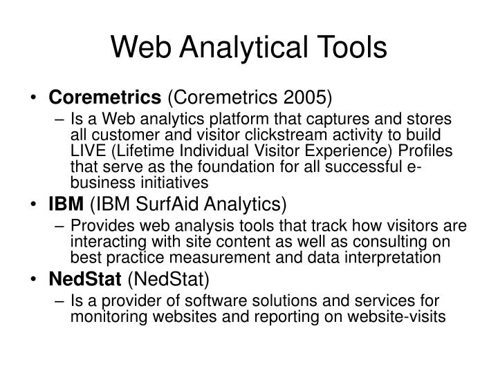 Web Analytical Tools