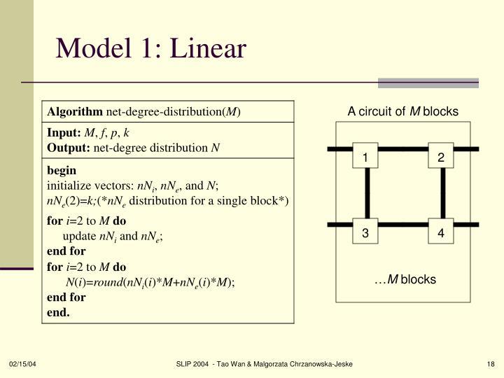 Model 1: Linear