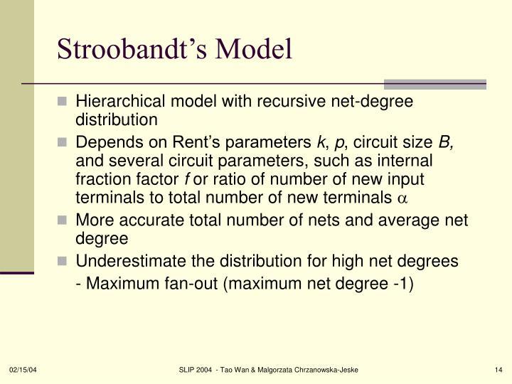 Stroobandt's Model