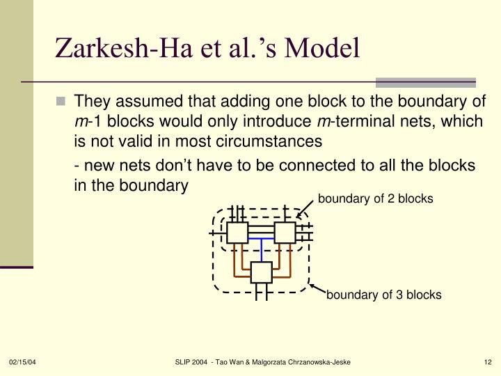 Zarkesh-Ha et al.'s Model