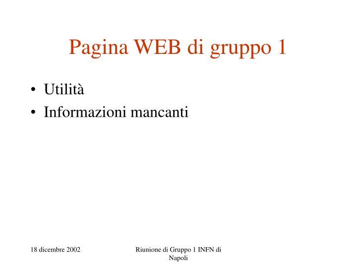 Pagina WEB di gruppo 1