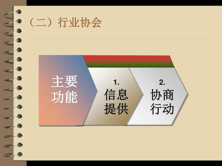 (二)行业协会