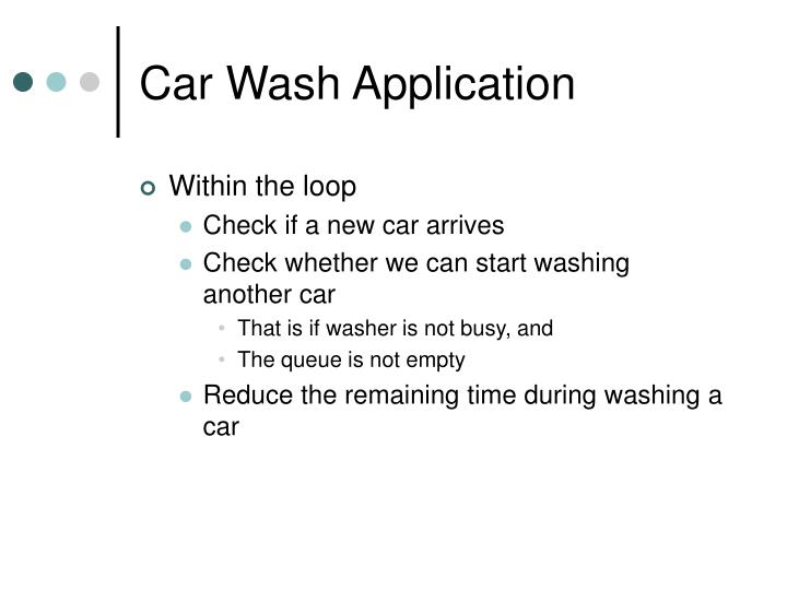Car Wash Application