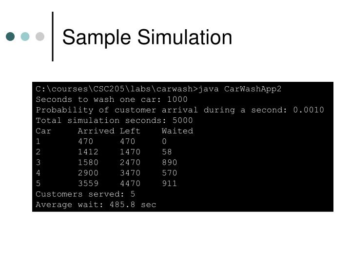 Sample Simulation