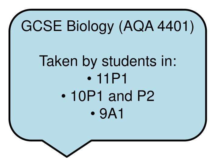 GCSE Biology (AQA 4401)