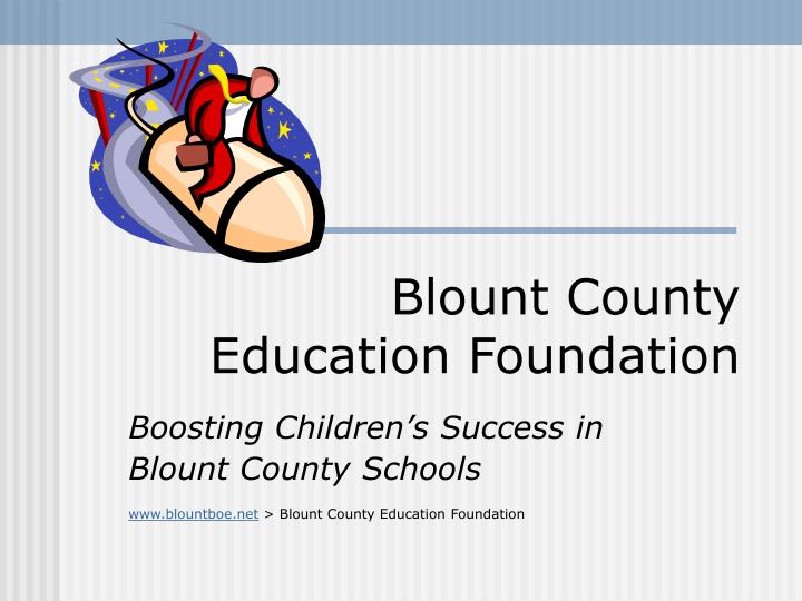 Blount county education foundation