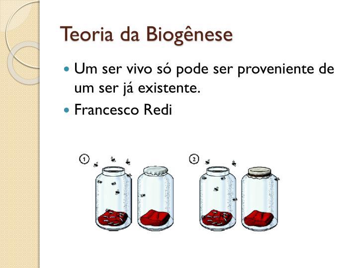 Teoria da Biogênese