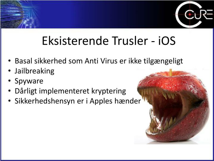 Eksisterende Trusler - iOS